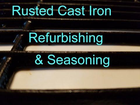 Derust, Refurbish, and Season Cast Iron Grill