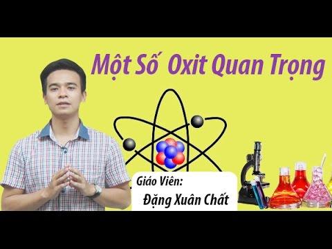 Một Số Oxit Quan Trọng – Hóa học 9-Thầy Đặng Xuân Chất