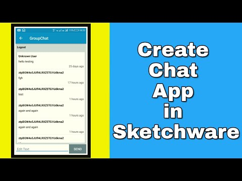 Create Simple Firebase Chat App In Sketchware
