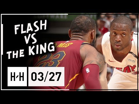 Dwyane Wade vs LeBron James BROTHERS Duel Highlights (2018.03.27) - Wade BLOCKS LeBron TWICE!