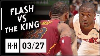 Dwyane Wade vs LeBron James BROTHERS Duel Highlights (2018.03.27) - Wade BLOCKS LeBron TWICE!