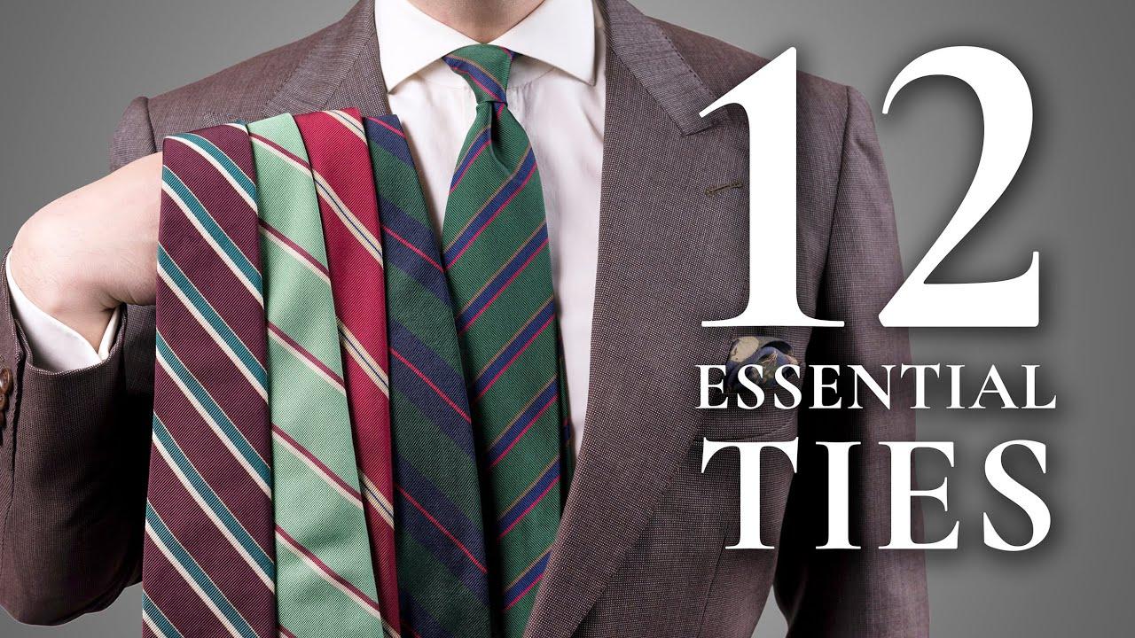 12 Ties Every Man Should Invest In - Essential & Best Men's Neckties -  YouTube