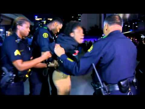Dallas protester detained outside American Airlines Center
