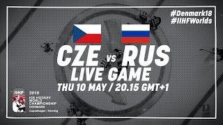 Czech Republic - Russia   Full Game   2018 IIHF Ice Hockey World Championship