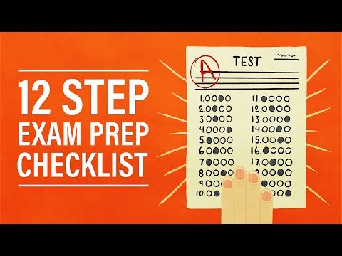 How to Study for Tests and Exams: A 12-Step Checklist