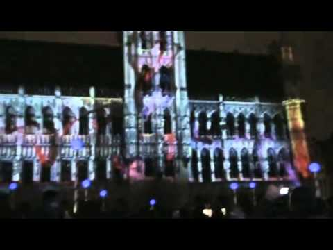 La Grand - Place de Bruxelles 2011   Light Show 2011 !!.flv