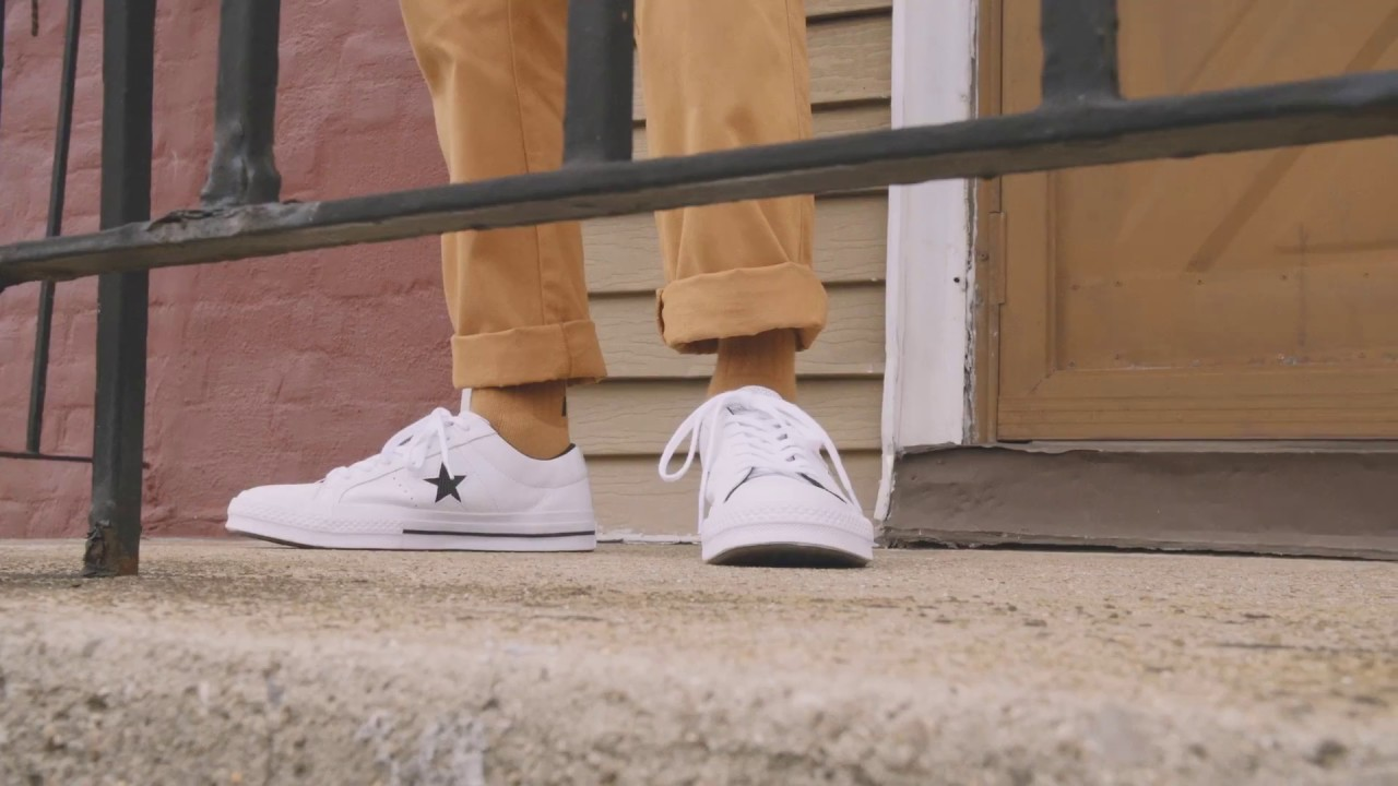 Converse One Star Perf Leather - YouTube