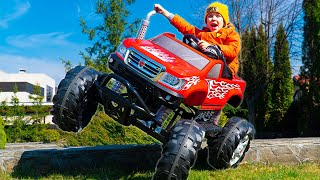 Artem and Bunny | Who has the best toy car on power wheels