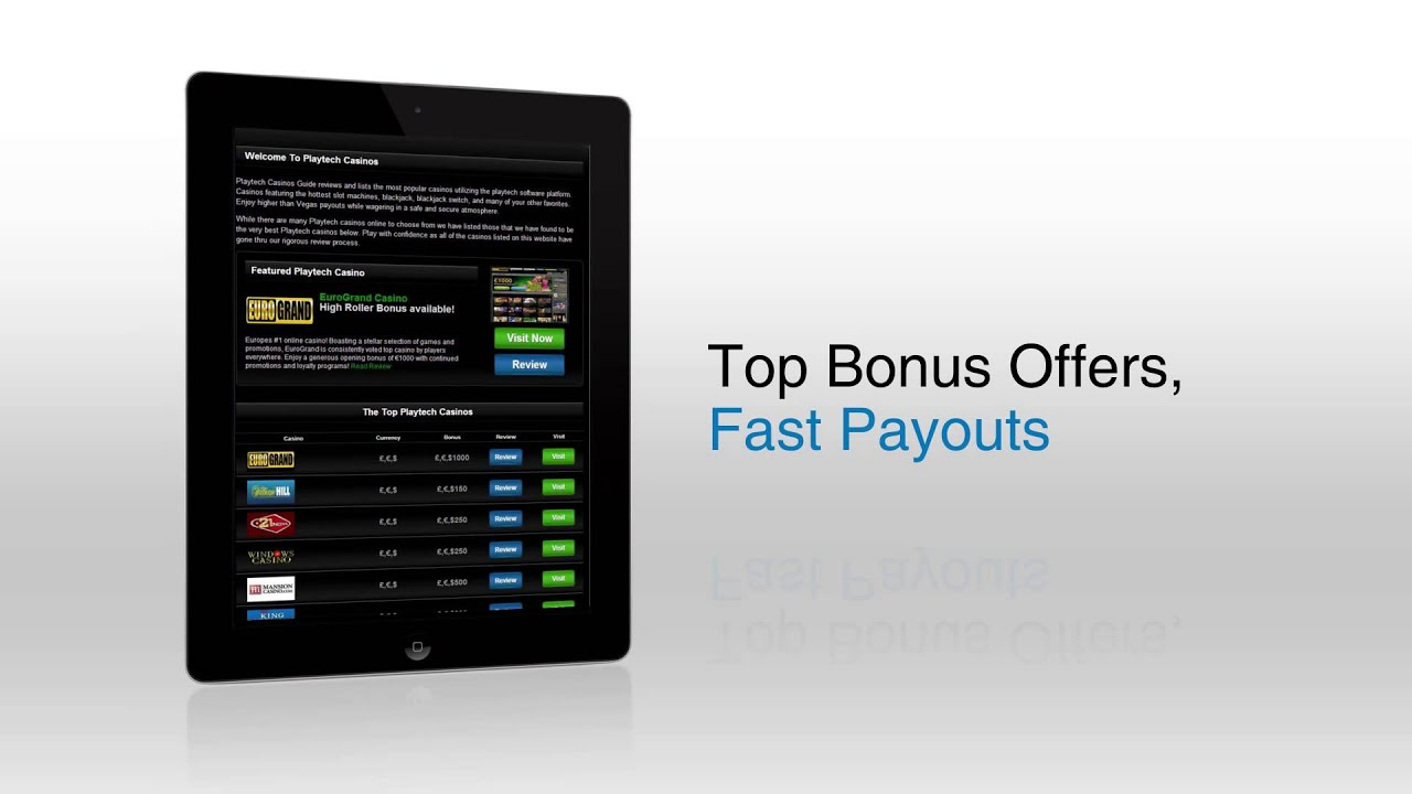 Online Casino Liste Playtech