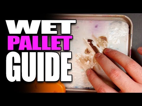 This Is How I Set Up My Wet Pallet for Miniature Painting