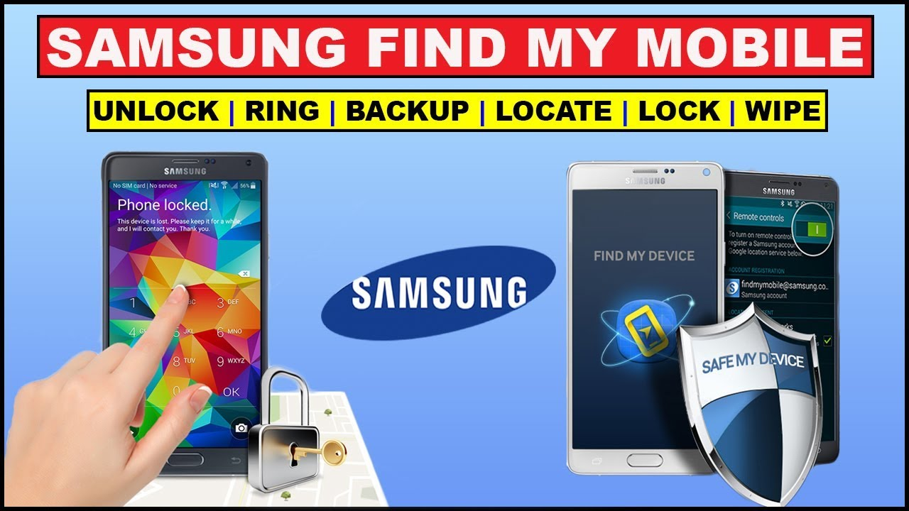 Find your Lost phone | unlock pattern | wipe data | via Samsung Find My  Mobile