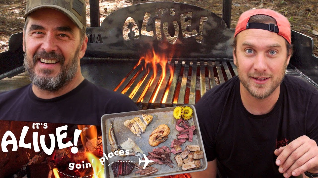 Brad Makes Surf & Turf on an Outdoor Grill (Part 2) | It's Alive Goin' Places | Bon Ap
