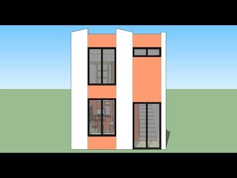 Como hacer mi casa en un terreno de 5x20 doovi for Como puedo disenar mi casa