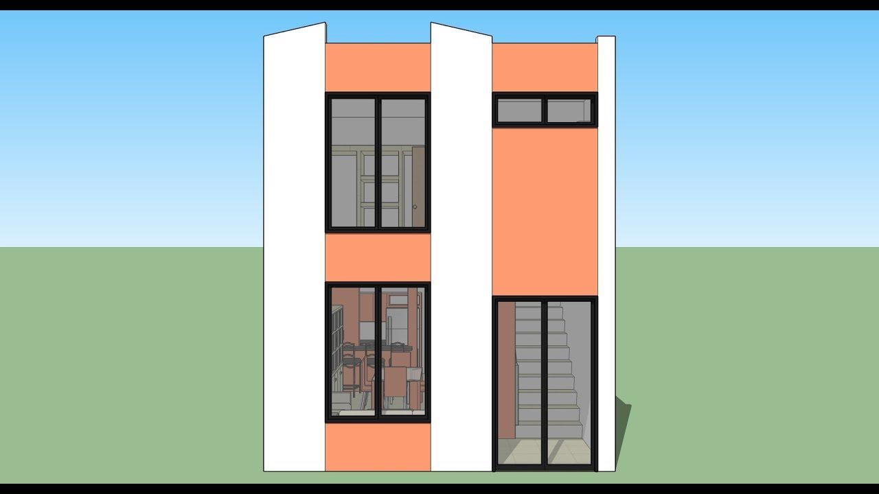 Cómo diseñar una casa 5x10m de terreno sin garaje #1