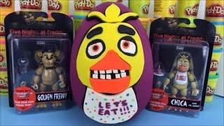 Five Nights at Freddy Huge Surprise Egg Chica FNAF Toys