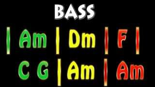 Reggae Bass Backing Track 90 bpm Am [Suggestions are welcome]