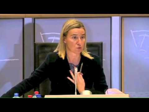 Question de J-L Mélenchon à Federica Mogherini, candidate à la Commission européenne