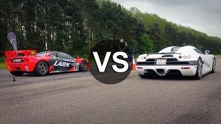 Koenigsegg CCX Vs McLaren F1 GTR Drag Race - DRAGINFO