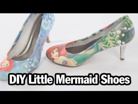 DIY Little Mermaid Shoes