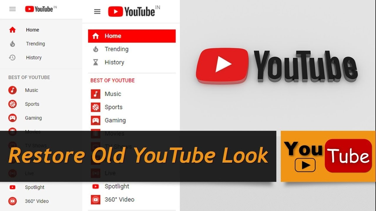 How To Get The Old Youtube Layout Back 2017 Youtube