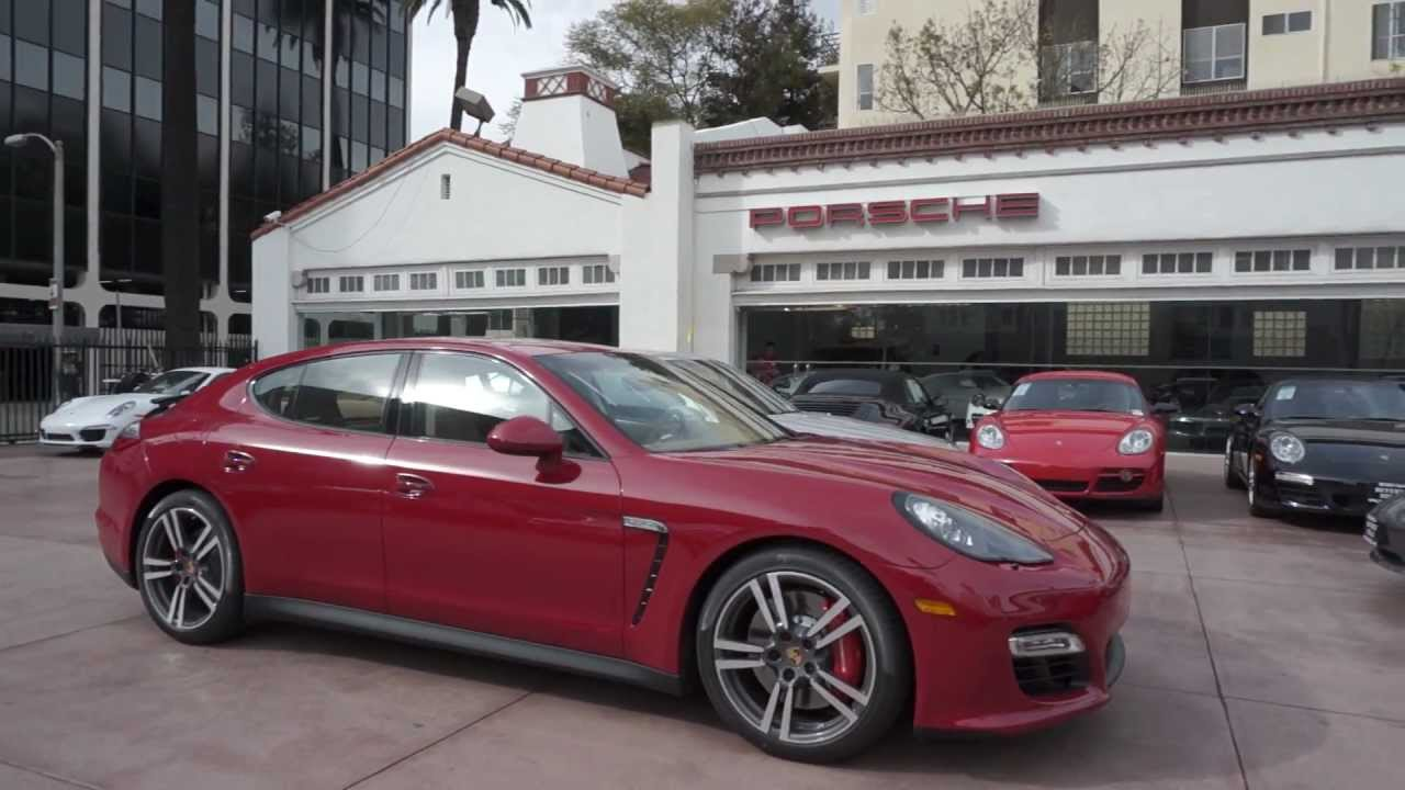 NEW 2013 Porsche Panamera GTS in Carmine Red Cognac leather in