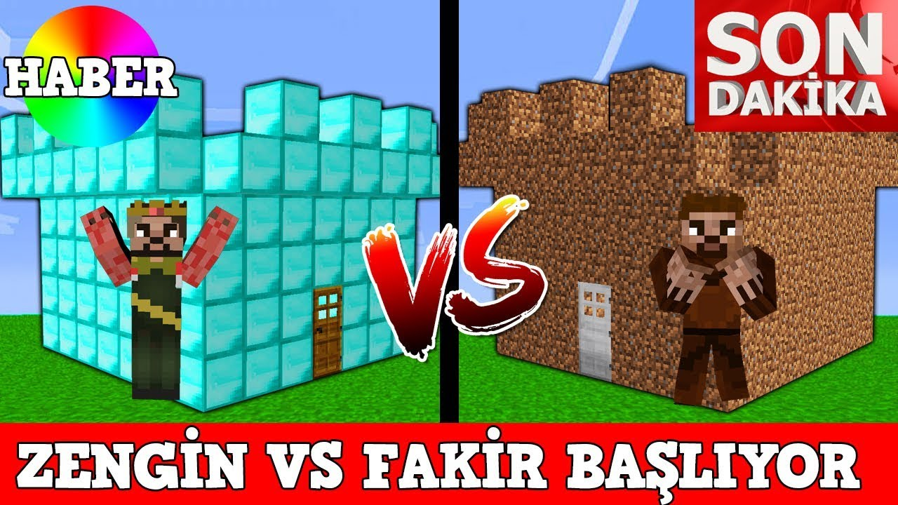 Zengin Vs Fakir 45 Minecraft Youtube
