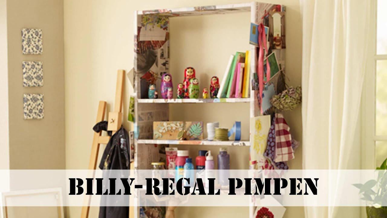 ikea billy regal pimpen - youtube