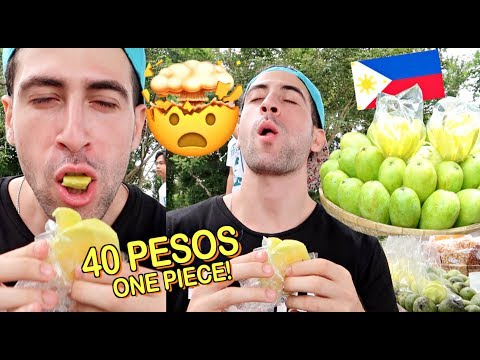 First Time EATING FILIPINO GREEN MANGO!! *PATAY* 😂 🇵🇭