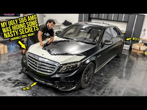 Here's What My UGLY Mercedes S65 AMG Was HIDING Under Its NASTY Black Vinyl Wrap