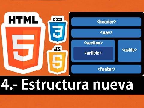 Curso de HTML5 esencial - Estructura (header,nav,section,aside,article,footer)