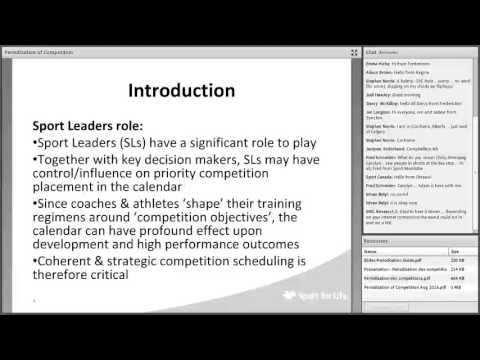 Periodization of Competition