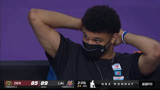 6'10 Anthony Davis gets bodied by a 5'8 Campazzo and Jamal Murray cant believe the call...