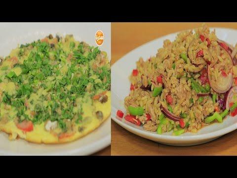 نودلز بالخضروات - عجة - لسان عصفور بالتونة  : عيش وملح حلقة كاملة