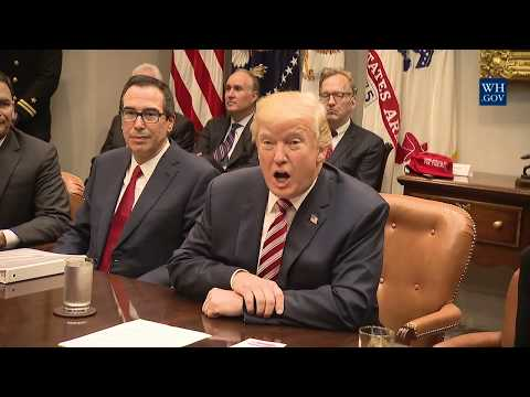 President Trump Participates in a Tax Reform Industry Meeting