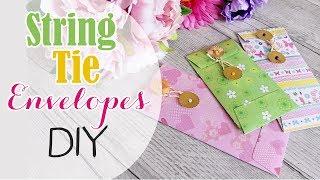 Bustine di carta con chiusura in Spago fai da te - DIY String Tie evnelopes