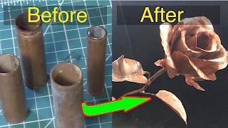 Making a copper rose - Silent version.  FarmCraft101