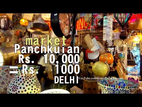 A walk to World Famous Cheapest Furniture Market Complex, Delhi INDIA, Panchkuian Road