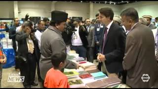 Canada's Liberal Party leader Justin Trudeau visits Ahmadiyya Muslim Convention