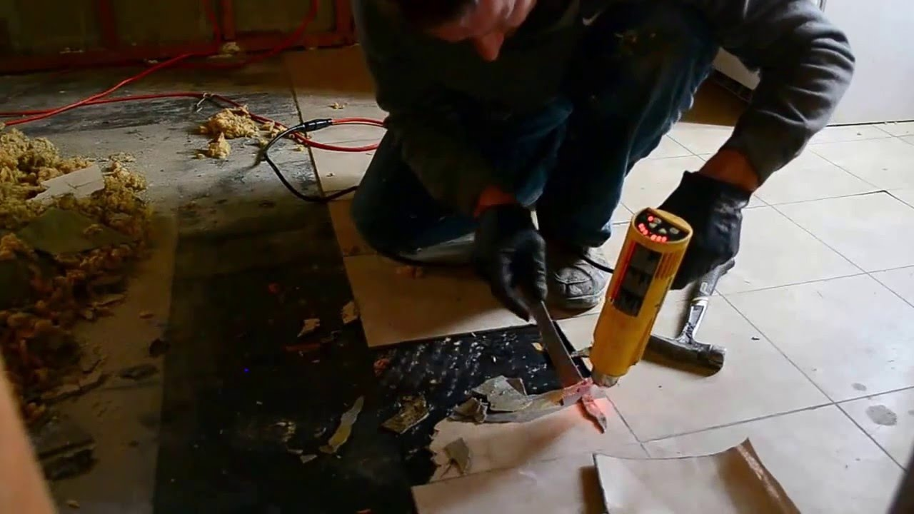 How to remove vinyl tiles fast youtube how to remove vinyl tiles fast dailygadgetfo Gallery
