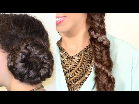 Spiral Braid Wrapped Fishtail Braid Tutorial - 2 Styles!