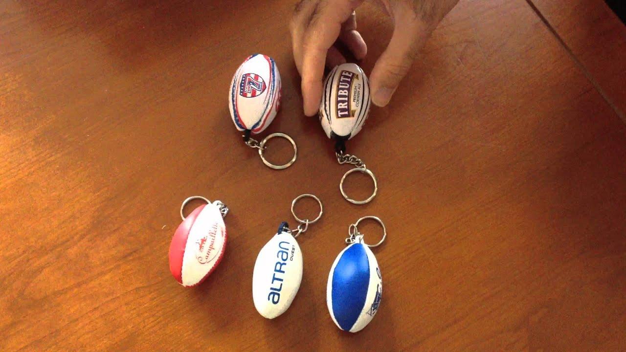 Porte cl s ballon de rugby youtube - Fabriquer porte bijoux facile ...