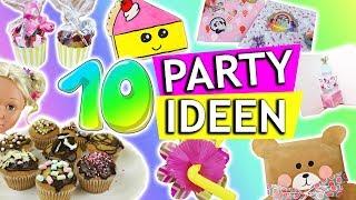 10 DIY Party Ideen | Kindergeburtstag DIYs | Geschenkideen zum GEBURTSTAG | Party Deko | DIY Kids