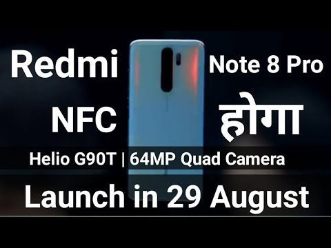 Redmi Note 8 Pro Official Video Leak 🔥NFC Redmi Note 8 Pro Me Hoga & Helio G90T, 64MP Quad Camera