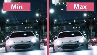 Need for Speed – PC Min vs. Max + Graphics Options Comparison