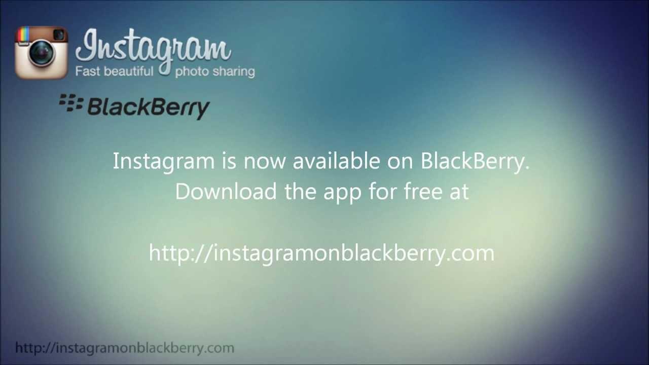 instagram blackberry download