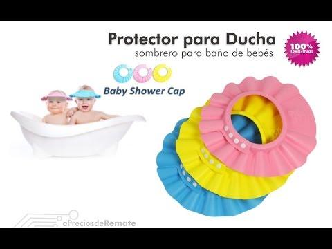 c66dc42a6dab6 Gorro Visera de Ducha para Baño Bebé Niño Protege sus Ojos del shampoo -  aPreciosdeRemate