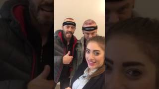 Happy clients from Ireland at Clinicana Hair Transplant Center - Istanbul Turkey