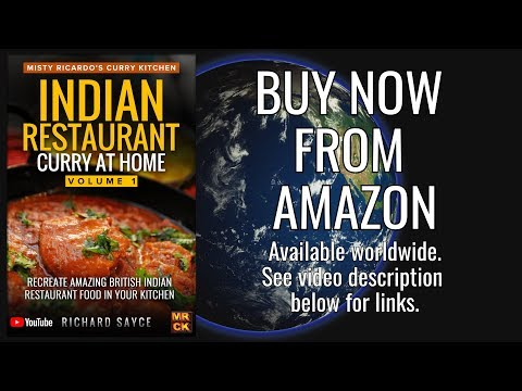 New Book: INDIAN RESTAURANT CURRY AT HOME by Misty Ricardo's Curry Kitchen