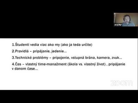 SLOVENSKÝ JAZYK: Výučba Slovenského jazyka dištančnou formou
