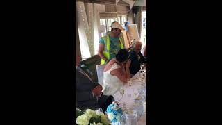 Terry the Odd Job Man makes surprise wedding appearance